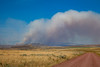 View of the Chinn fire southwest of White Sulfur Springs, Montana, from Sixteen Mile Creek Road in Meagher County.