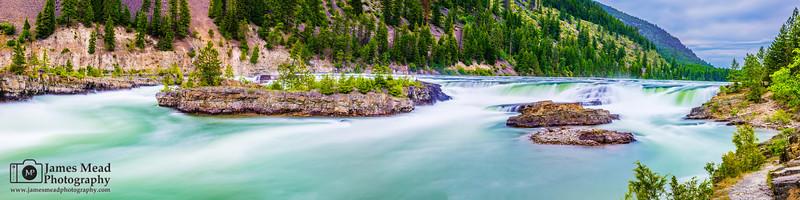 """Turquoise Roll"" Kootenai Falls, Montana"