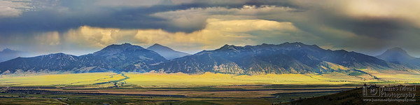 """Thunderfront,"" Thunder clouds over the Madison Range, Montana"