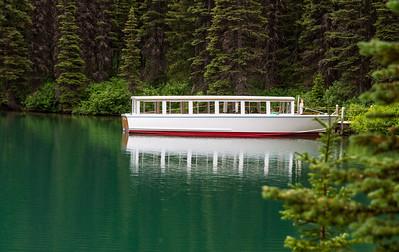Boat, Swiftcurrent Lake, Glacier National Park