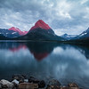 Sunrise Spot Color, Many Glacier, Glacier National Park