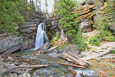 Baring Falls in Glacier National Park