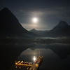 Moon Over Swiftcurrent Lake