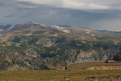 The Beartooth Scenic Highway is one of the more famous roads in North America. The high-alpine pass leads visitors from the valleys of Yellowstone National Park up and over the peaks of southern Montana.  Photo by Kyle Spradley | www.kspradleyphoto.com