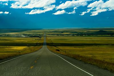 Evening light along Highway 89 in northern Montana.  Photo by Kyle Spradley | www.kspradleyphoto.com