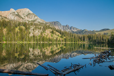 Fairy Lake, at the base of Sacagawea Peak in the Bridger Mountain Range,  north of Bozeman.