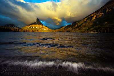 Sunrise at Two Medicine Lake in Glacier National Park in Montana.  Photo by Kyle Spradley | www.kspradleyphoto.com