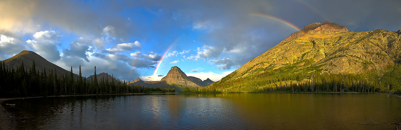 Sunrise Rainbows over Two Medicine Lake