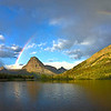 Sunrise Rainbows over Two Medicine Lake