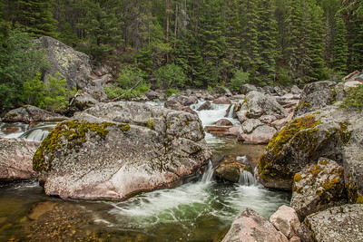 Living up to its name, the Main Boulder River south of Big Timber on the Gallatin National Forest;