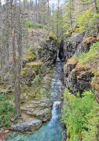 Sunrift Gorge in Glacier National Park