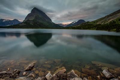 Sunset, Swiftcurrent Lake, Glacier National Park