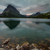 Sunset, Swiftcurrent Lake, Glacier National Park