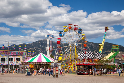 Bozeman Fair, Bridger Mountains in the Background