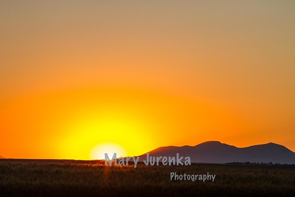 Sunset over Sweet Grass Hills in North Central Montana.