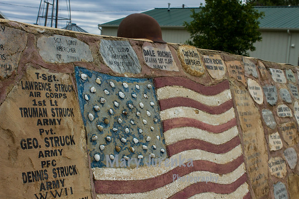 This is a segment of the memorial wall at Rudyard's Depot Museum.  I took this picture in July 2013.