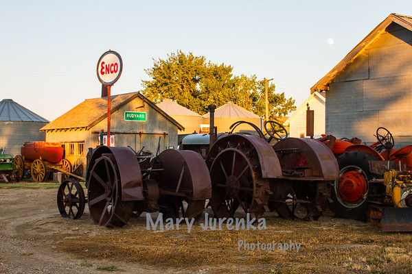 antique tractors at Depot Museum in Rudyard, Montana