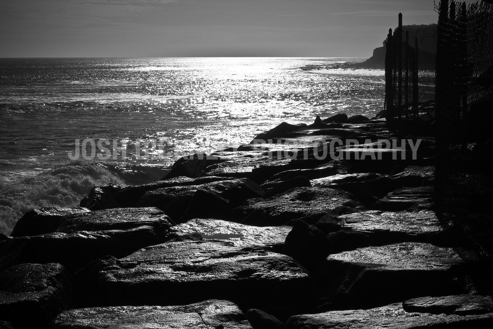 Shimmering Rocks and Ocean