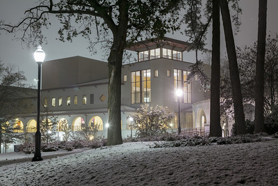 2012; campus; snow; winter
