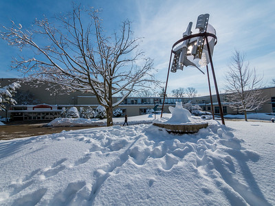 2014, Snow on campus,