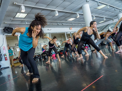 2014, CART dance students in master classes with the David Rousseve dance company members.