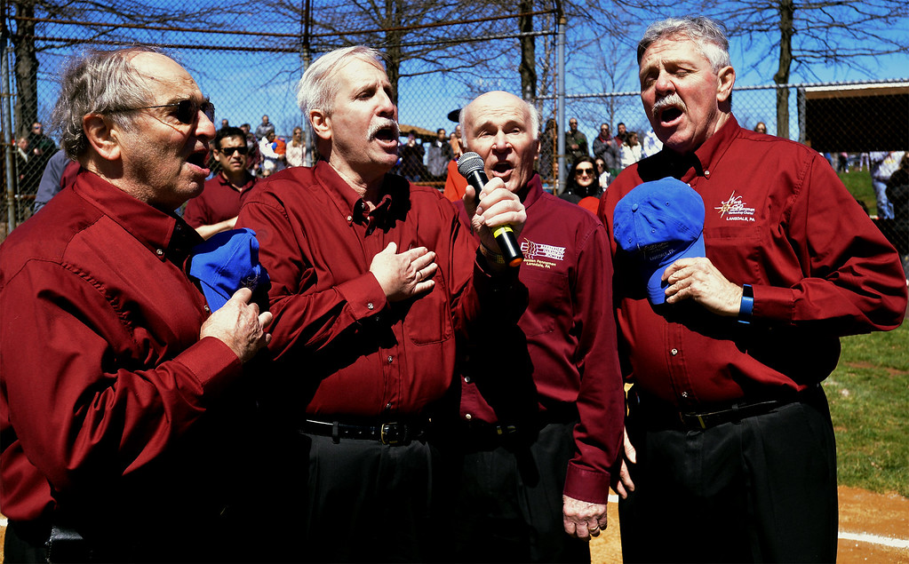 """. (Bob Raines--Digital First Media)___ The North Pennsmen Barbershop Chorus sings \""""Take Me Out To The Ball Game.\"""""""