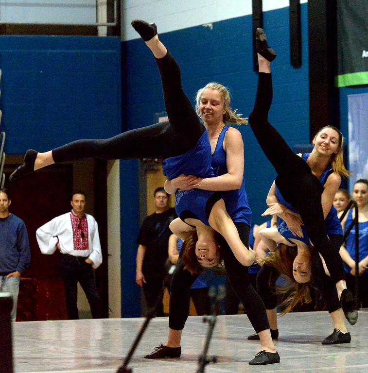 . Members of the North Penn High School Dance Team perform at the International Spring Festival April 22, 2017.  (Bob Raines/Digital First Media)