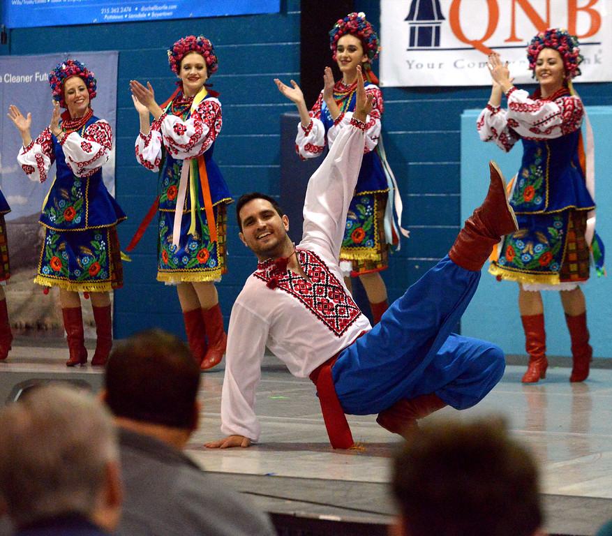 . The Voloshky Ukrainian Dance Ensemble performs at the International Spring Festival April 22, 2017.