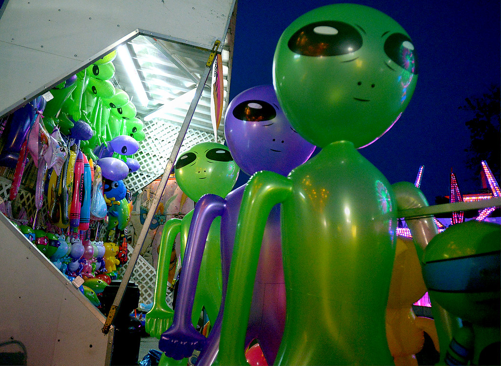 . Space aliens look for a new home at the Upper Gwynedd Township Carnival Sept. 7, 2017. / Bob Raines--Digital First Media