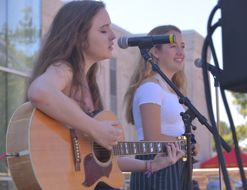 . Olivia Tyrrell and Ryan Stratton entertain at the Whitpain Community Festival Sept. 23, 2017. / Bob Raines--Digital First Media