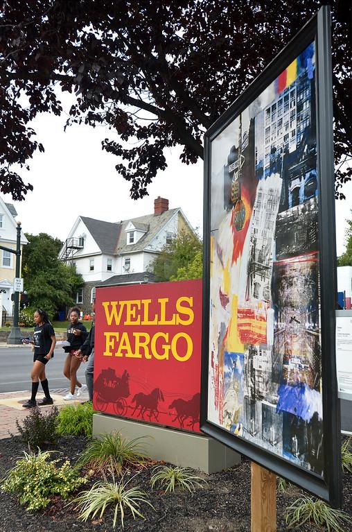 ". Bob Raines--Digital First MediaRobert Rauchenberg\'s \""Estate\"" stands by Wells Fargo Bank on the corner of Easton Rd. and Waverly Rd, Glenside Oct. 5, 2017."