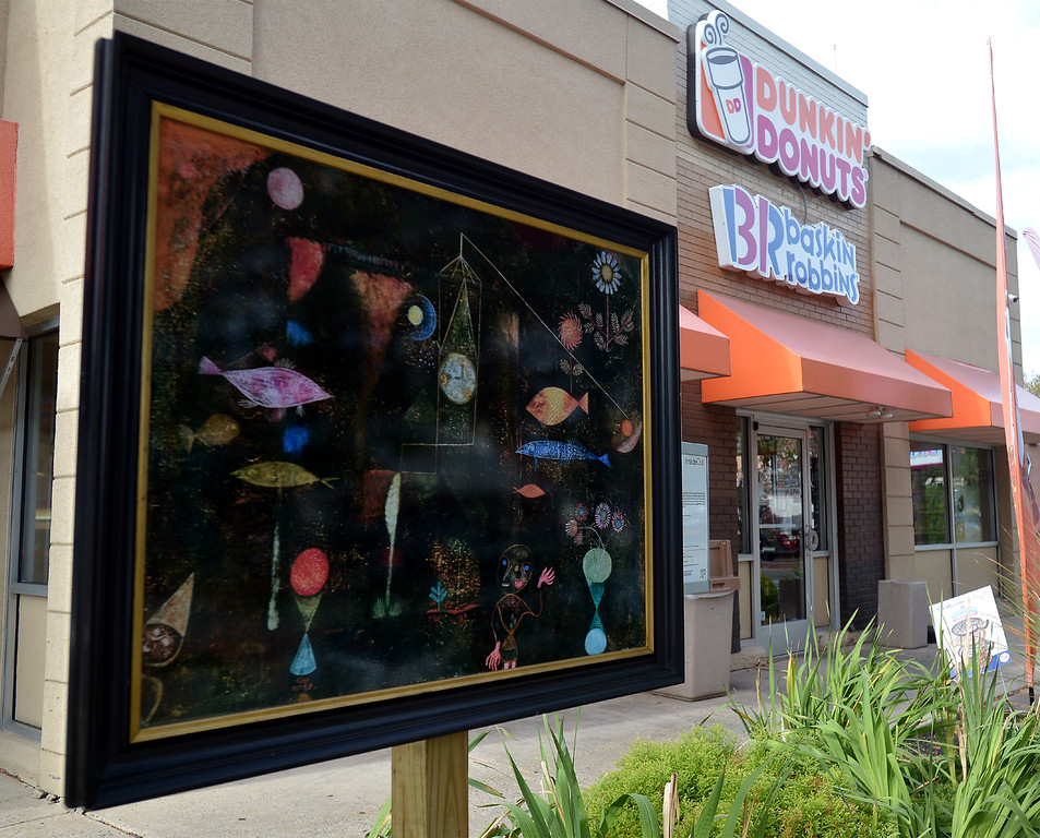 """. Bob Raines--Digital First MediaPaul Klee\'s \""""Fish Magic\"""" stands in front of Dunkin Donuts on Easton Rd., Glenside Oct. 5, 2017."""