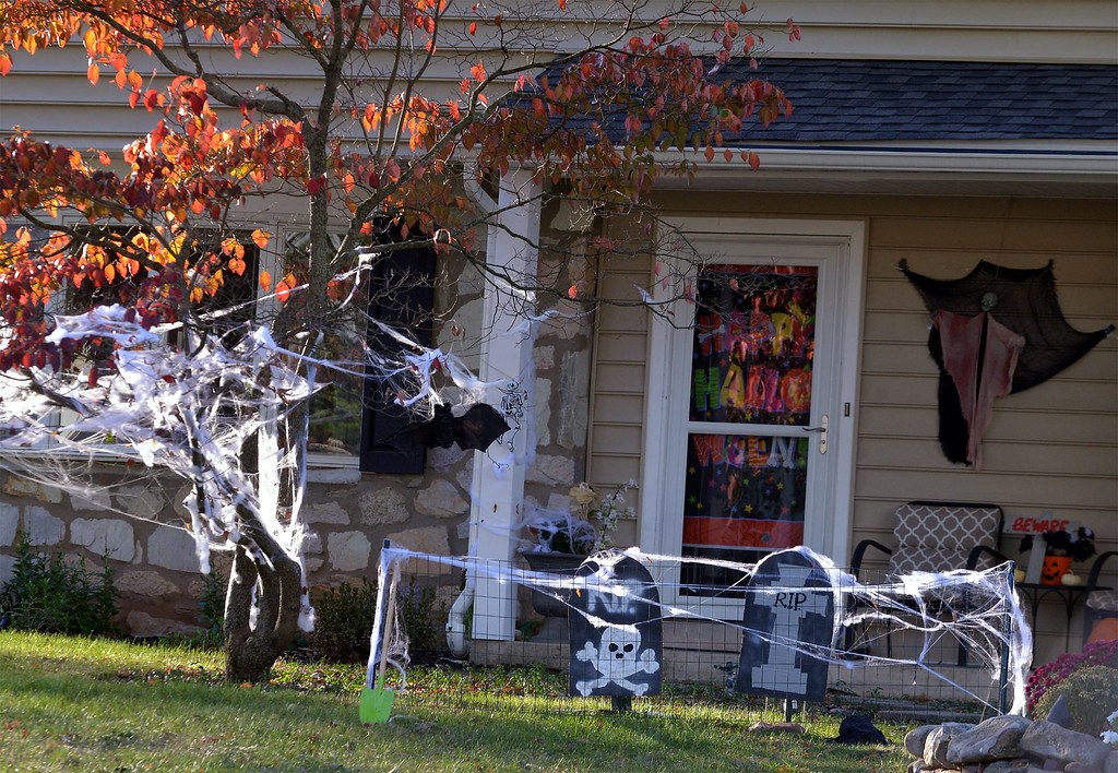 . A decorated house in the Inglewood section of Towmencin Township Oct 27, 2017. (Bob Raines--Digital First Media)