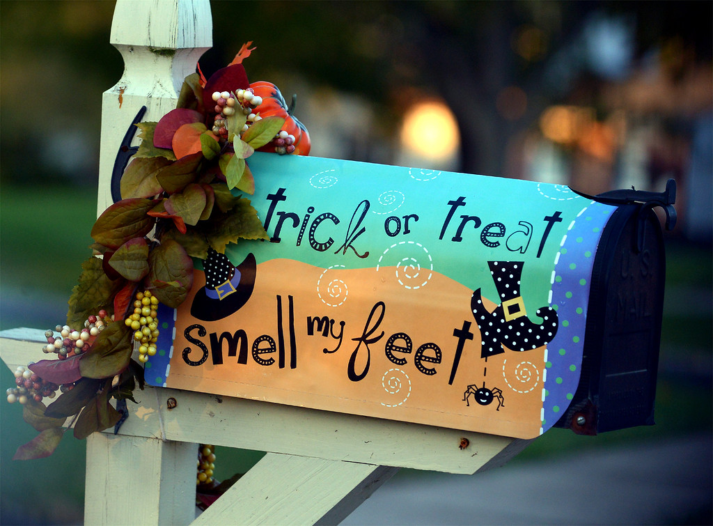 . A decorated mailbox in North Wales Oct 26, 2017. (Bob Raines--Digital First Media)