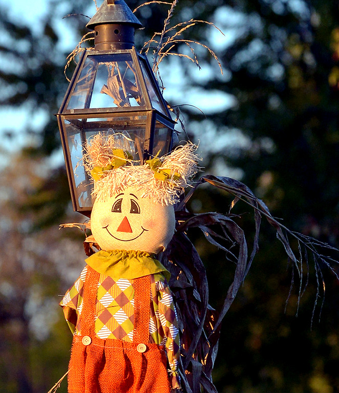. A decorated lamppost in North Wales Oct. 26, 2017. (Bob Raines--Digital First Media)