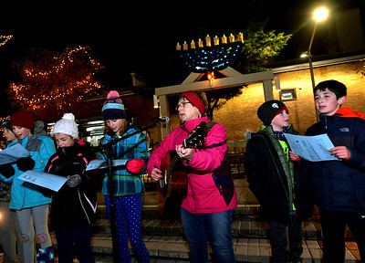 12/12/17  Menorah lighted in Railroad Plaza, Lansdale