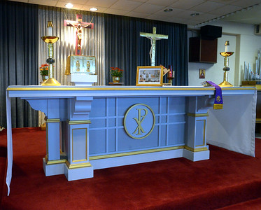 11.17.15 Relics, new altar at Holy Martyrs Church