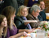 Diners pass dishes of food along to others at their table at the Zion Mennonite Church Table of Plenty Thanksgiving dinner Nov. 24, 2016.   |   Bob Raines--Digital First Media