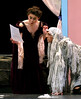 Mrs. Darling (Anastasia Weggel) and the dog, Nana (Charles Rudalavege) find a curious note in the nursery from Peter Pan.  (Bob Raines--Digital First Media)