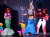 Bob Raines--Digital First Media // <br /> King Triton (Ryan Henderson) chastises Ariel (Amanda Warkow) for being late for her solo in the celebration of Ursula's defeat, and because of her fascination with humans. Sebastian (Steven Aronow), right, is shock by the king's vehemence.