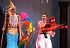 Bob Raines--Digital First Media<br /> Sebastian the crab (Steven Aronow, right) is aghast when King Triton ( Ryan Henderson) makes him responsible for keeping the willful Ariel out of trouble.