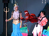 Bob Raines--Digital First Media // <br /> Sebastian the crab (Steven Aronow, right) is aghast when King Triton ( Ryan Henderson) makes him responsible for keeping the willful Ariel under control.