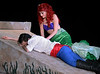 """Bob Raines--Digital First Media // <br /> Ariel ( Amanda Warkow) gazes fondly at Prince Eric (Michael Reed Price) after rescuing him when he fell overboard in a storm. (""""Part of Your World, Reprise"""")"""