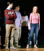 "Bob Raines--Digital First Media // <br /> Sarah Hodgson (Elle) and Neil Devlin (Warner) rehearse for ""Legally Blonde,"" April 26, 2016."