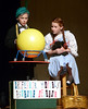"Realizing that Dorothy (Adriana Novello) has run away from home the kindly charlatan Professor Marvel (  )uses his phony crystal ball to convince her to go home her to go home as they rehearse July 10, 2016 for the YSTC production, ""The Wizard of Oz."" _ Bob Raines 