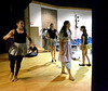 "Actors loosen up on stage in the Wissahickon High School Audion before rehearsal for the Young Starrs Theater Company production, ""The Wizard of Oz,"" July 10, 2016. _ Bob Raines 