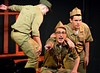 "Matt Wolfinger, (Bernstein, front), Neil Devlin (Ralphie, right) and Dylan Dagenais (Eddie) rehearse for the Young Starrs Theater Company production, ""Dogfight,"" appearing Aug. 12, 13 and 14 at the Act II Playhouse, Ambler.  