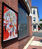 "Bob Raines--Digital First Media  |  <br /> ""Spring Sale at Bendel's,"" is attached to the front wall of Midgard Properties Aug. 13, 2016. This is one of 13 art works placed around Jenkintown as part of the Philadelphia Art Museum program, Inside Out."
