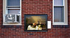 "Bob Raines--Digital First Media  |  <br /> ""Still Life with a Ham and a Roemer,"" is attached to the side wall of Leila's Bistro Aug. 13, 2016. This is one of 13 art works placed around Jenkintown as part of the Philadelphia Art Museum program, Inside Out."