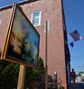 "Bob Raines--Digital First Media  |  <br /> ""The Burning of the Houses of Lords and Commons stands by the Pioneer Fire Company Aug. 13, 2016. This is one of 13 art works placed around Jenkintown as part of the Philadelphia Art Museum program, Inside Out."